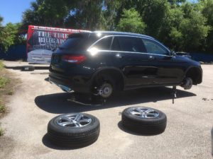 New Tire's on Mercedes SUV
